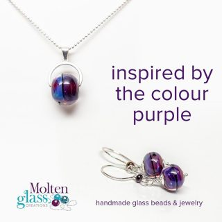 Inspired by purple.  Most glass bead makers have a few colours in their glass stash that they can really bring to life.  This is one glass I can make sing. ⁠ ⁠ The result is a very wearable colour that can be incorporated into many styles of bracelets, earrings and necklaces.⁠
