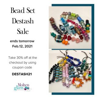 There's still time to get beads for your upcoming projects or something new for yourself.⁠ ⁠ Sale ends Feb 12/21 - Don't miss out!⁠ ⁠ Site link in my bio⁠