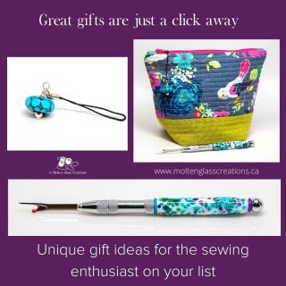 Great gifts are just a click away!  #handmade #glassbeads #sewinggifts #giftidea #giftsforher #giftshopping #sewingaddict #lampwork